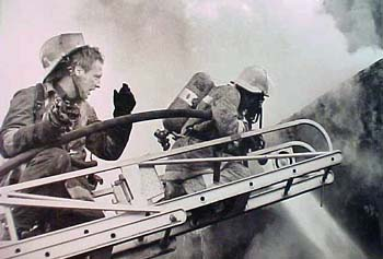 Firemen on Ladder