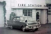 Fire Station with Car