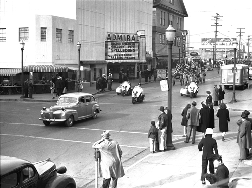 Bremerton Police Department provides escort at a 1946 Boy Scout parade